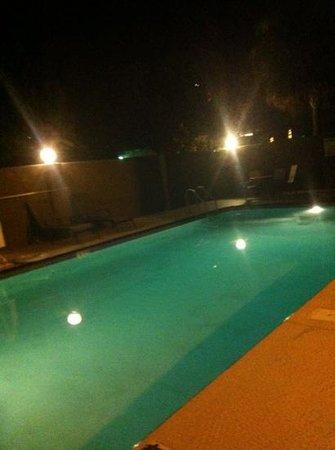 Best Western Tampa: Pool bei Nacht