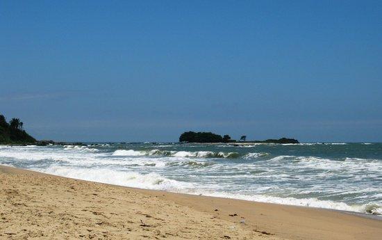 Barra Velha, SC: Vista da Ilha do Grant. Praia do Cerro