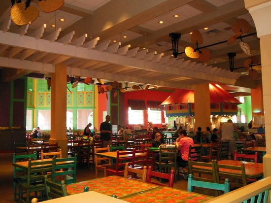 Disney S Caribbean Beach Resort Food Court Dining Area