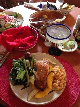 Restaurante Viva Mexico Tia Lupita: plato del día, Salmón con mango