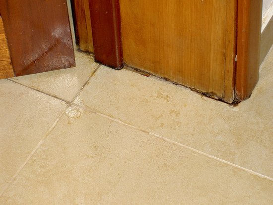 Hol Chan Reef Villas: Water damage which obviously had a problem in the past