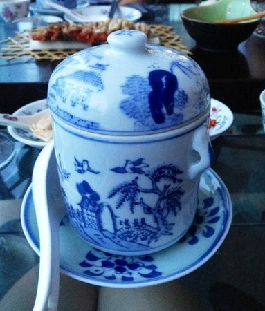 One on the Bund: Thick broth served in a Chinese porcelain. Taste :(