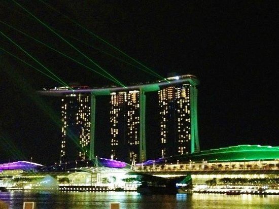 One on the Bund: Scenic night view of Marina Bay Sands