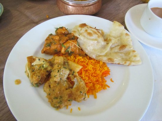 shish mahal: Lunch on the plate,  it was very tasty