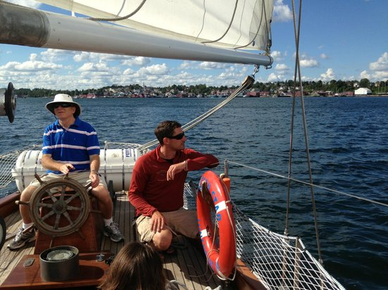 Star Charters Day Tour : Sharing the helm