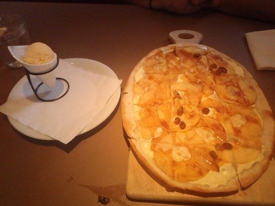 Joma: Apple Streudel - Crispy warm with cottage cheese on it.