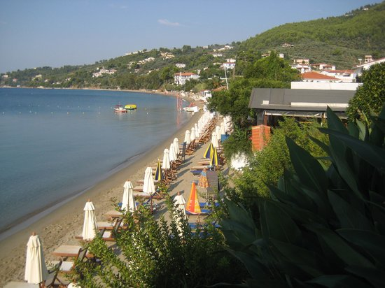 Hotel Megali Ammos House: Utsikt från vår balkong
