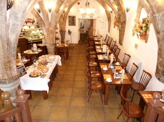 The Buttery At The Crypt: high vaulted ceilings