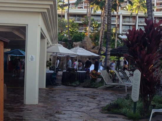 Grand Wailea - A Waldorf Astoria Resort: Long lines for towels and wristbands before 7am.