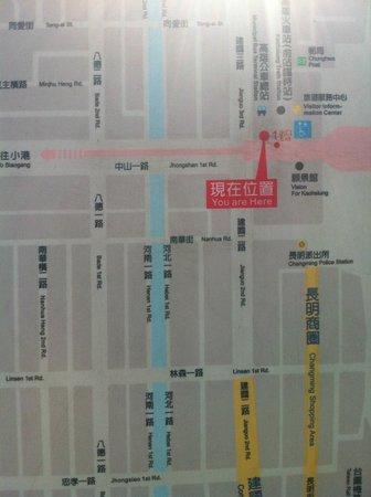 Shihzuwan Hotel - Kaohsiung Station: map