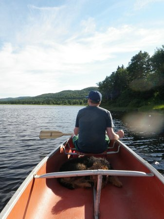 Cabot Shores Wilderness Resort: Canoeing at Cabot Shores