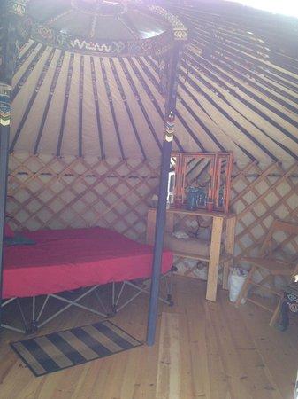Cabot Shores Wilderness Resort : Inside the Blue Yurt.