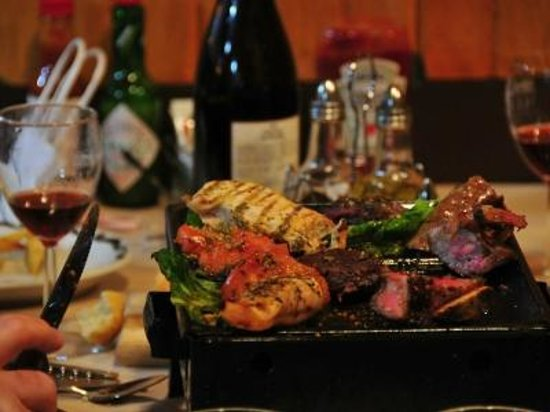 Gaucho's Argentine Cuisine: Parrillada! selected cuts of meat, delicious...