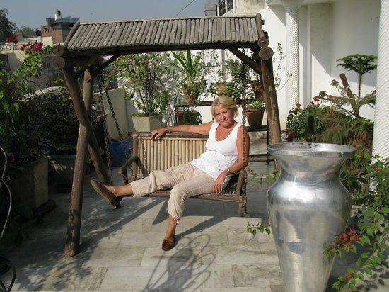 Hotel Relax New Delhi: Терраса