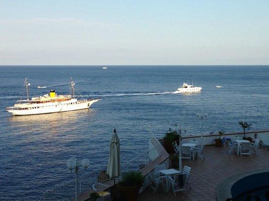 Terrace of the Hotel Carasco...