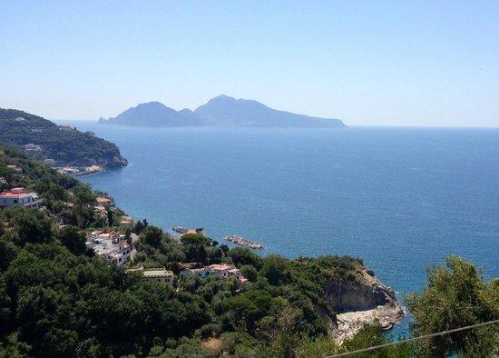 La Maison Hotel: Vista di Capri dalla Maison