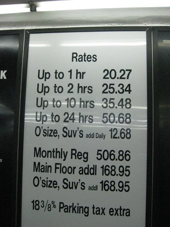Parking Rates Public Garage Picture Of Hampton Inn