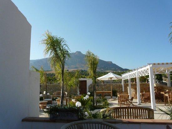 Villa delle Palme Delfina: View from my seat to Erice 750m