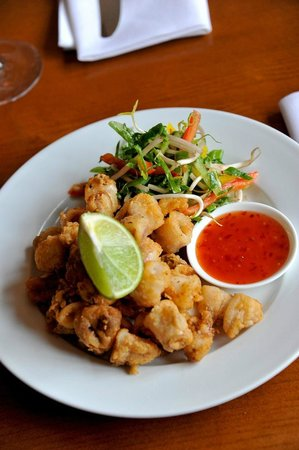 Deep Fried Calamari, Crispy Thai Salad, Sweet Chilli Dip ...