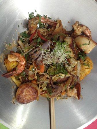 Le Restaurant du Golf : Scallop and Prawn stir fry