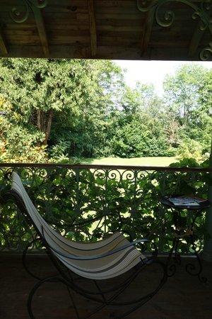 Maison Lespoune: le balcon de la chambre