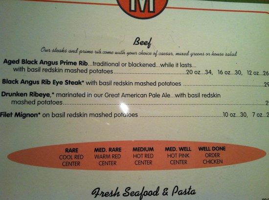 Mike's American Grill : Good menu advice