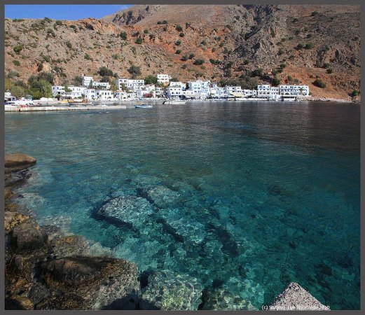 Sofia's Rooms : Loutro view from ferry