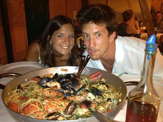 La Piazzetta Pizzeria Spaghetteria: Super spaghetti astice e frutti di mare! saluti ragazzi a presto!
