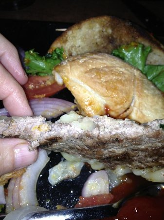 Maxies Tap & Grill : Pre-made,frozen, hamburger