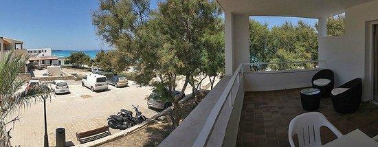 Es Calo, Spain: Vistas de la terraza de la habitación 13