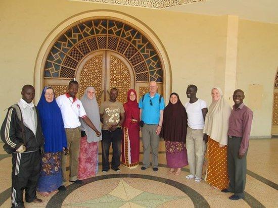 Kampala Boda Boda City Tours : Entering Gaddafi Mosque.
