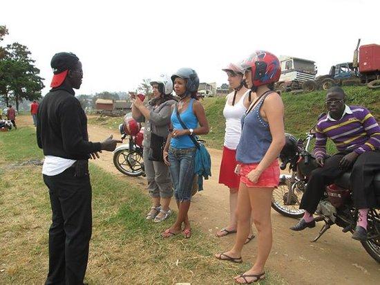 Kampala Boda Boda City Tours : Ricky doing some guiding.