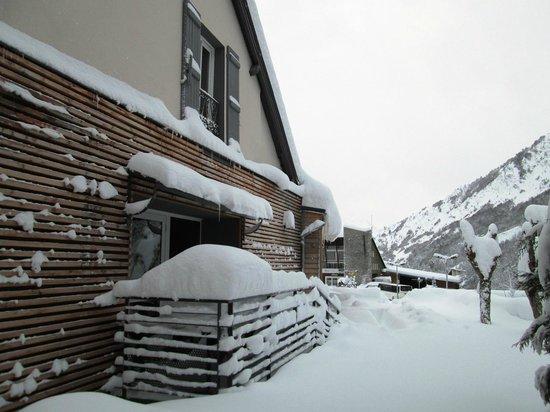 Logis Le Central Hôtel & Restaurant : Façade hotel hiver
