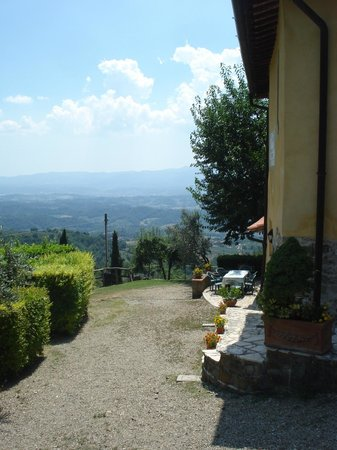 Podere Casarotta: View from the garden (Apartment 4)