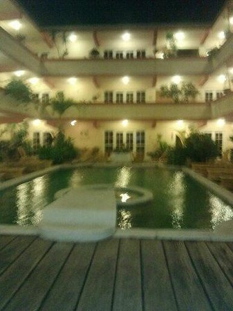 Banana Beach Resort: The main pool at night.