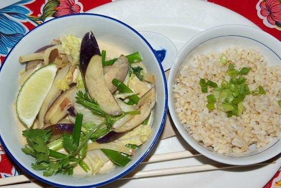 Rebar Modern Food: Half serving Curry bowl and brown rice