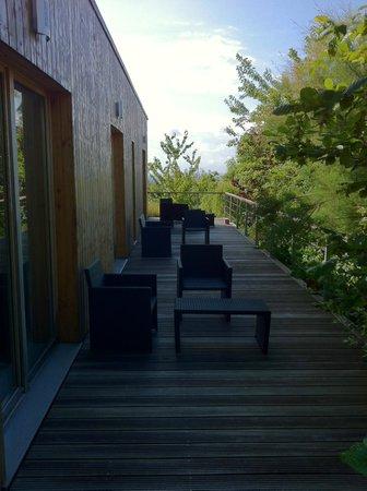 Le Chalet Champenois: Terrasse privée