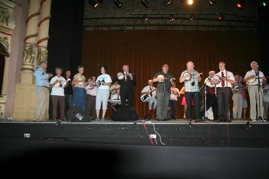 The Morecambe Winter Gardens Theatre : George Formby Society on Stage where George performed