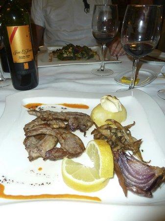 Hotel Cala Sant Vicenç: Délicieuses côtes d'agneau