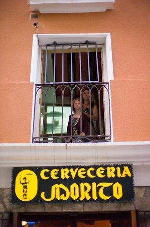 La Morada del Cid: Decent Spanish food in a Cervercia (sit upstairs) in Burgos