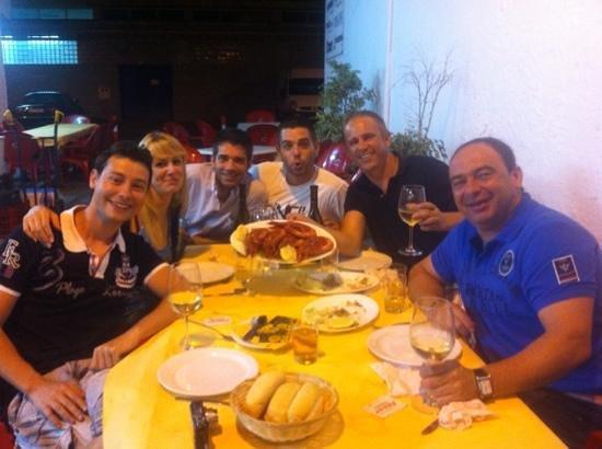 Restaurante La Escollera: gran cena, carabineros impresionantes!