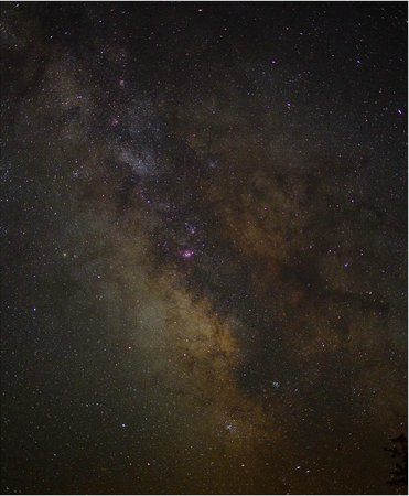 Sally Mountain Cabins: If you like dark skies, this place is awesome. Milky Way from the back yard.