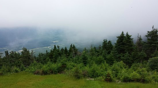 Mount Equinox: foggy view