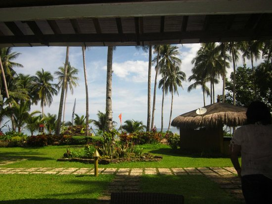 Daluyon Beach and Mountain Resort: view from our room downstairs