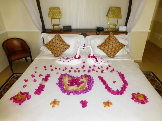 Hideaway of Nungwi Resort & Spa : This is what greeted us on arrival!