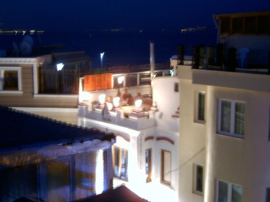 Maritime Hotel: Another view from the rooftop.  This is the Seatanbul Restaurant across the street .