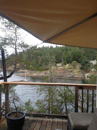 Rockwater Secret Cove Resort: view from deck of yurt