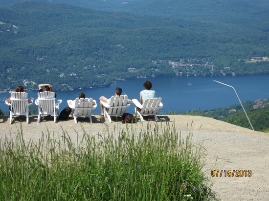 Mont Tremblant Resort: Lake Tremblant from the summit of Mt Tremblant