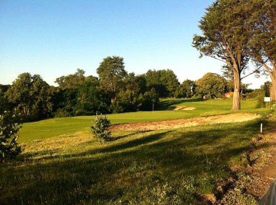Club de Golf 7 Rios: Atardecer en Hoyo 9 Club de Golf 7Rios