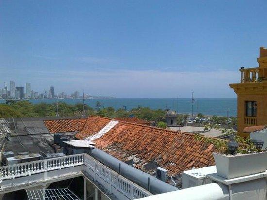 Calamari Hostal Boutique: Rooftop, ocean view